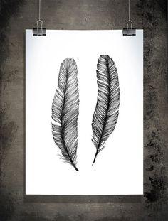 Feathers 50x70 cm 197x275 inch van SofieRolfsdotter op Etsy