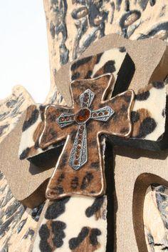 Leopard Print Cross by davinciandvine on Etsy, $59.00