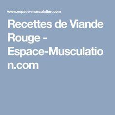 Recettes de Viande Rouge - Espace-Musculation.com