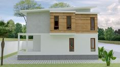 Small Home design Plan with 3 Bedroom - SamPhoas Plan Duplex House Design, Simple House Design, Minimalist House Design, Minimalist Home, Model House Plan, Story House, Home Design Plans, Small House Plans, House Rooms