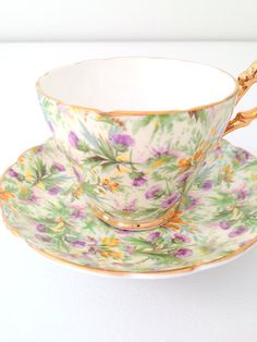 Vintage Regency English Bone China Tea Cup and Saucer 1960s