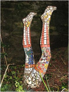 Do you have an idea for creating a mosaic art project using a mannequin? Here are some tips and resources but first check out some of these examples of mosaic mannequins gardens that I found on Pinterest. 18 years ago I searched on craigslist for a used mannequin to mosaic and place in my garden.