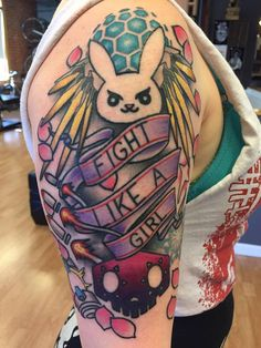 Overwatch Tattoo by Chase at Til Death in Denver Co