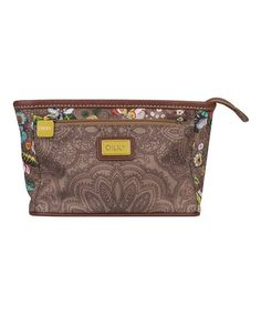 Take a look at this Tobacco French Flowers Small Cosmetic Bag & Pocket Mirror on zulily today!