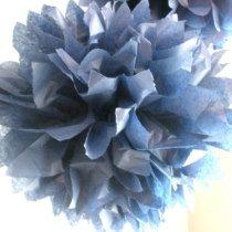 Midnight Blue Tissue Paper Pom Pom Decoration