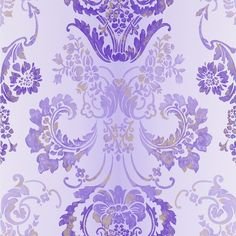 Designers Guild Alexandria Collection Kashgar Wallpaper - P619/12... ($78) ❤ liked on Polyvore featuring backgrounds, purple and wallpaper