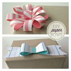 SquareView Studios: PRINTABLE HOLIDAY PAPER BOWS