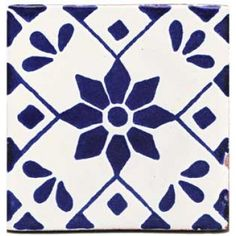Infuse the spirit of the Southwest into your home with these beautifully handcrafted Talavera tiles! An eye-catching accent in kitchens and baths, decorative ceramic tiles are also perfect for covering the risers on a staircase or the walls of a patio. Handmade Tiles, Handmade Art, Mexican Furniture, Tiles For Sale, Tile Projects, Craft Projects, Blue Tiles, Tile Patterns, Tile Design