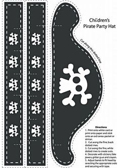 printables by Becknboys Pirate Hat Crafts, Pirate Hats For Kids, Mad Hatter Costumes, Mad Hatter Hats, Mad Hatters, Pirate Costumes, Crazy Hat Day, Crazy Hats, Pirate Hat Template