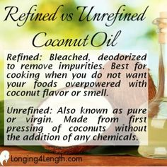 Refined vs Unrefined Coconut oil