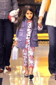 Katie Holmes' Daughter Suri Cruise Styles Pajamas for Dinner Out in NYC
