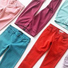 """LOVE THESE COLORS!!! """"I own too many jeans,"""" said no woman ever. Ask your Stylist for a fresh pair of blue (or red, or…"""""""