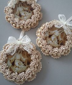 1 million+ Stunning Free Images to Use Anywhere Diy Crafts Easy To Make, Create And Craft, Cute Crafts, Shabby Chic Crafts, Vintage Crafts, Victorian Christmas, Vintage Christmas Ornaments, Doilies Crafts, Beaded Ornaments