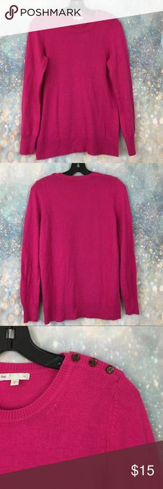 """GAP luxe hot pink angora rabbit hair sweater Good condition. 19"""" armpit to armpit and 26"""" long GAP Sweaters"""
