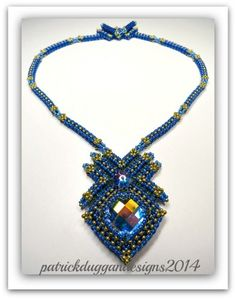 """DIAMOND KISS"" Tutorial, a necklace by patrickduggandesigns 