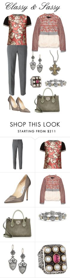 """""""Classy & Sassy"""" by karen-galves on Polyvore featuring DKNY, Weekend Max Mara, Jimmy Choo, MSGM and Konstantino"""