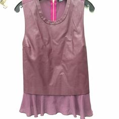 Central Park west burgundy red peplum leather tank New. Beautiful and useful. Works with denim or white / black pants or shorts for the summer or any season. Sold out in all stores Central Park West Tops Tank Tops