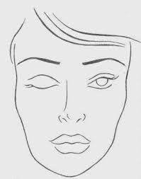 Resultado de imagem para moldes de rosto feminino para maquiagem imprimir