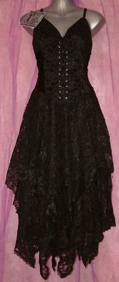 Dark Star Gothic Black Lace Corset Dress [DS/DR/21B] - $94.99 : Mystic Crypt, the most unique, hard to find items at ghoulishly great prices!