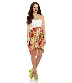 IN San Francisco FloralPrint HiLow Dress #Dillards