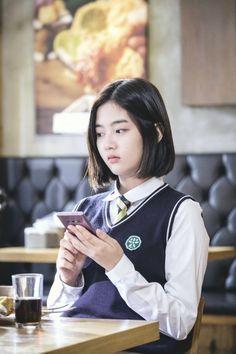 Ulzzang Boy, Korean Drama, Bigbang, Cute Girls, Kdrama, Short Hair Styles, Girl Fashion, Bomber Jacket, Wattpad