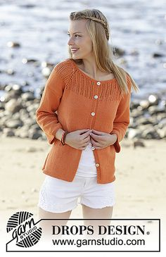 Ravelry: 178-43 Orange Dream Cardigan pattern by DROPS design