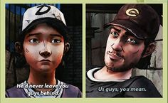 Clementine and Nick | The Walking Dead | I wish we could've had more time with Nick...just when I really started to like him...