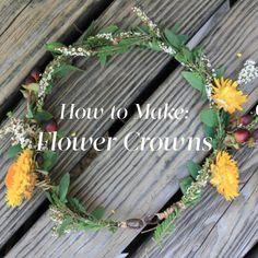 How to make a flower crown - I need to try this for making a crown for our May crowning.