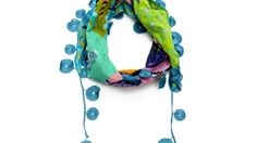 Desigual Cotton Floral Scarf made in Spain