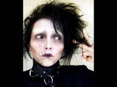 Edward Scissorhands Costume Make-Up (by kandee) SO many other costume makeup tutorials on this website as well! Halloween Makeup Videos, Halloween Make Up, Scary Halloween, Halloween Ideas, Halloween Party, Halloween 2014, Make Up Looks, Sfx Makeup, Hair Makeup