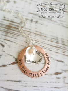 Personalized Adoption Necklace Large by ShayDesignsJewelry on Etsy