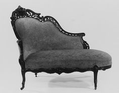 Sofa  Date: ca. 1855 Geography: United States Culture: American Medium: Rosewood