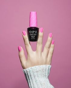 Opi gel manicure: pretty in pink and long-lasting in gelcolor! Opi Gel Nail Polish, Opi Gel Nails, Opi Nail Colors, Pretty Nail Colors, Gel Polish Colors, Gel Color, Pretty Nails, Nail Pink, Shellac