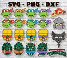 Ninja Turtle Crafts, Ninja Turtles Art, Ninja Turtle Birthday, Turtle Party, Teenage Mutant Ninja Turtles, Ninja Turtle Shirts, Turtle Costumes, Ninja Party, Silhouette Png