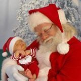 Baby and Santa