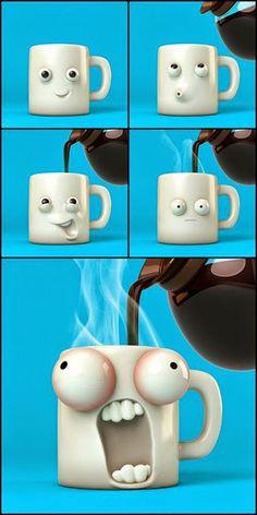 Un café caliente. #humor #risa #graciosas #chistosas #divertidas