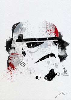 Paint Splatter Star Wars by Arian Noveir... via Behance.net /// Stormtrooper
