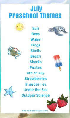July Preschool Themes with Lesson Plans and Activities - Natural Beach Living