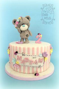 Teddy Bear Cake (Tatty Teddy) ladybugs and flowers