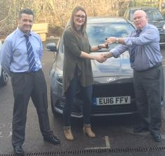 Alice Attwood absolutely loves her new Ford Focus handed over here by John and Wesley at our Lakeside dealership!