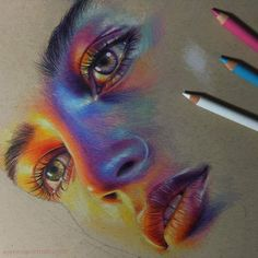 🌕 Gorgeous portrait with colored pencils ✨ swipe to see step by step 👉 😁 Guess who? Cool Art Drawings, Pencil Art Drawings, Amazing Drawings, Realistic Drawings, Art Drawings Sketches, Colorful Drawings, Horse Drawings, Drawings With Colored Pencils, Drawing Art