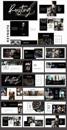 Roasting is Innovative Promotion Corporate Professional Keynote Template and Cool Creative presentation design. It Amazing presentation! Which is great for use in a variety of Publ Portfolio Design Layouts, Book Design Layout, Booklet Design, Creative Portfolio, Template Portfolio, Design Portfolios, Portfolio Ideas, Web Layout, Label Design