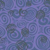 A spiralling fishy tail (blue) - bippidiiboppidii - Spoonflower