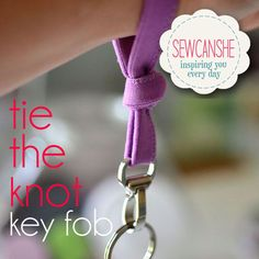 Tie the Knot Key Fob free sewing tutorial from SewCanShe