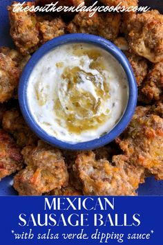 Mexican Sausage balls are a twist on an old classic. The seasonings and the green chiles add such a fantastic flavor. They are easy and addictive! Sausage Recipes, Pork Recipes, Fall Recipes, New Recipes, Holiday Recipes, Favorite Recipes, Healthy Recipes, Christmas Recipes, Christmas Eve