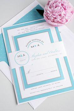 Light Blue Wedding Invitation  Pastel Blue by ShineInvitations