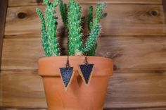 Leather Triangles Earrings by KamalaHandcraft https://www.etsy.com/ca/listing/540681138/leather-triangles-earrings-free-shipping?ref=shop_home_active_8