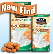 Spotted on Shelves...   So Delicious Dairy Free Unsweetened Almond Plus 5X Protein!   Food Lab Results, Ten-Calorie Soda Test | Hungry Girl