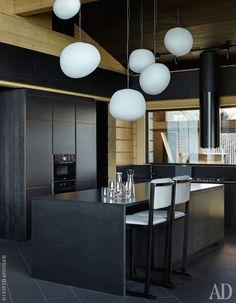 """Кухня. Мебель спроектирована архитектором и изготовлена компанией """"Виларт"""". Светильники Gregg, Foscarini. Kitchen Interior, Interior, Lighting, Ceiling Lights, Foscarini Lighting, Home Decor, Kitchen, Lights"""