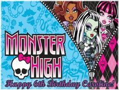 Single Source Party Supplies  Monster High Cake Edible Icing Image 2  80 x  105 Rectangular >>> Read more reviews of the product by visiting the link on the image.